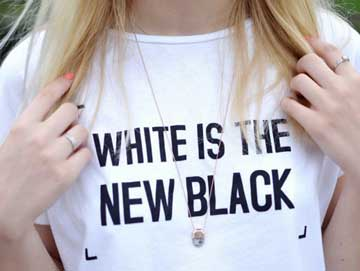 foute tshirt white is the new black